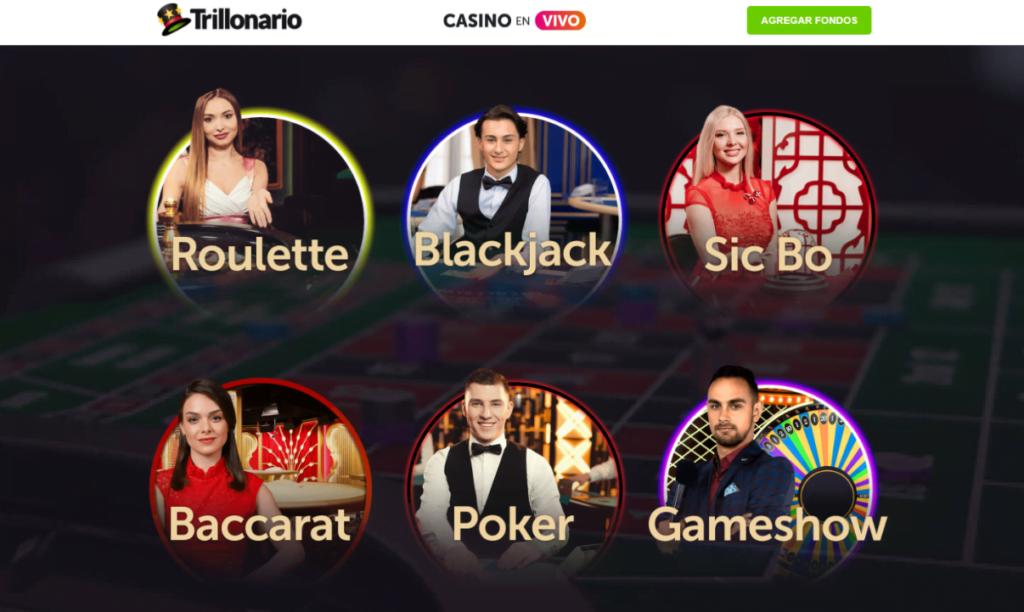 blackjack en vivo de trillonario