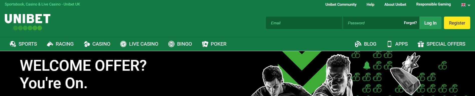 Sign up with Unibet