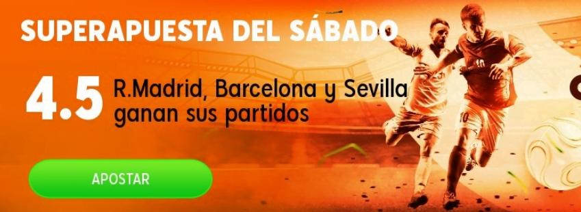 Madrid, Barcelona y Sevilla
