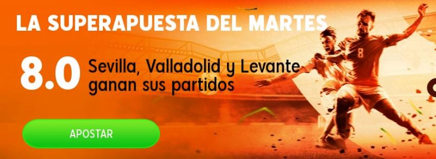Sevilla, Valladolid y Levante
