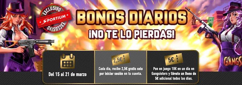 Bonos Diarios Sportium