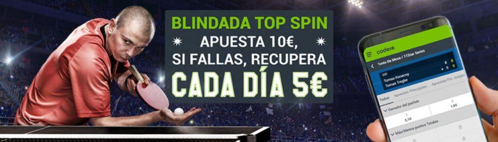 blindada top spin codere