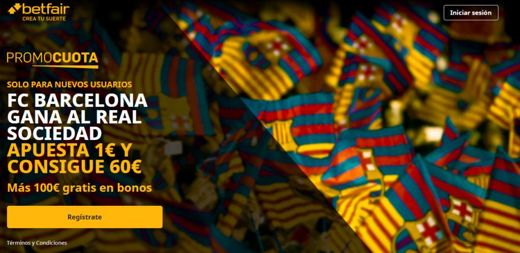 promocuota betfair real sociedad barcelona