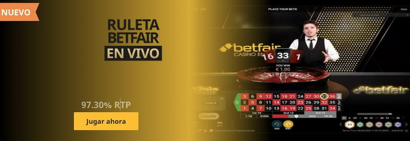 Ruleta Betfair en vivo