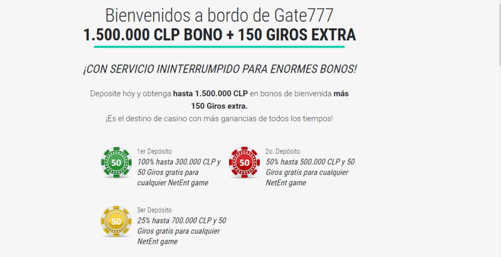 gate777 bono de bienvenida casino