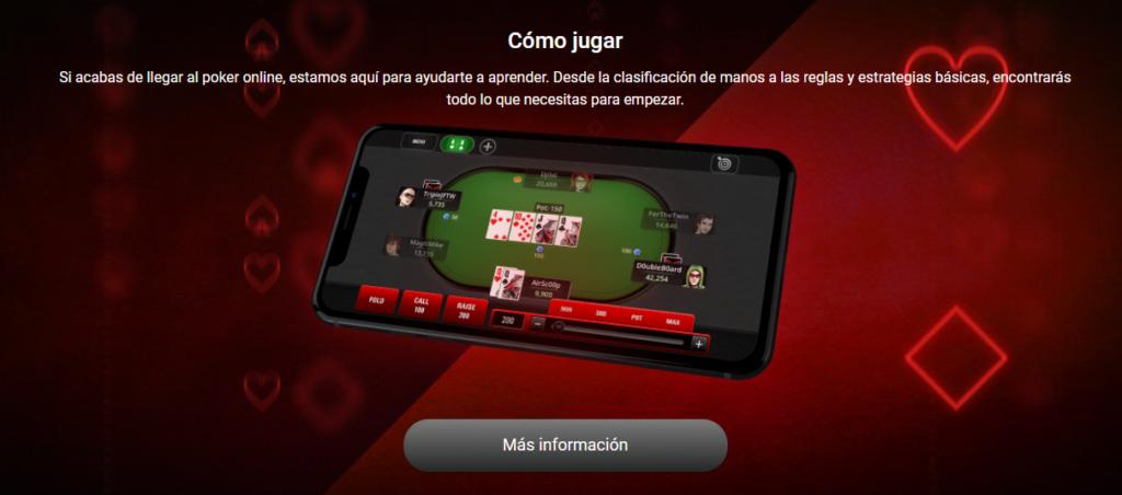 como jugar pokerstars