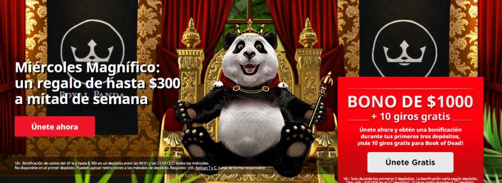royal panda promociones casino
