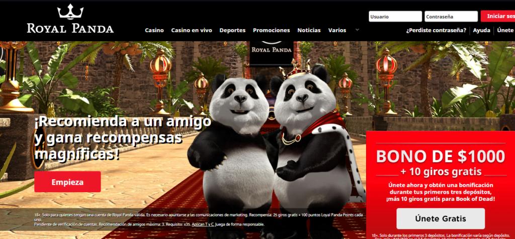 royal panda promociones para casino