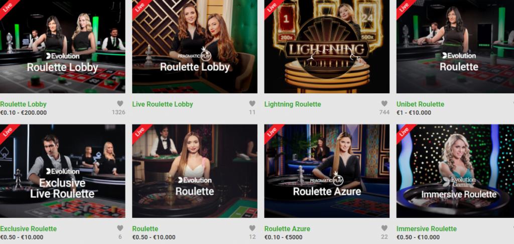 unibet play roulette