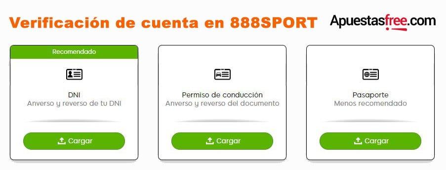 verificar identidad 888sport