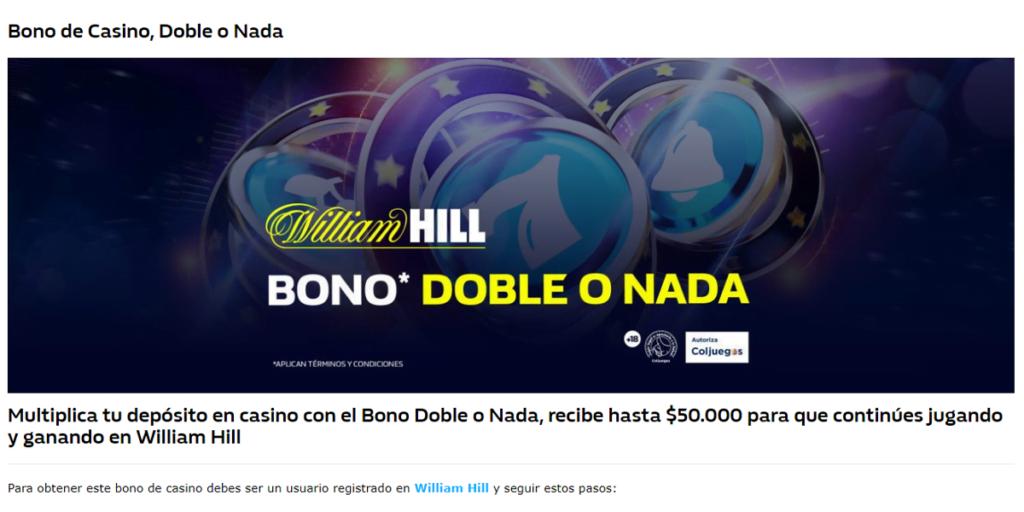 bono casino william hill