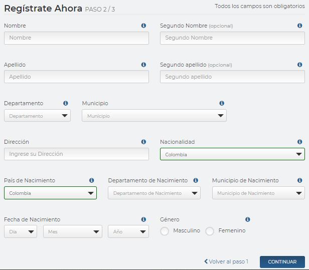 rushbet registrarse paso 3