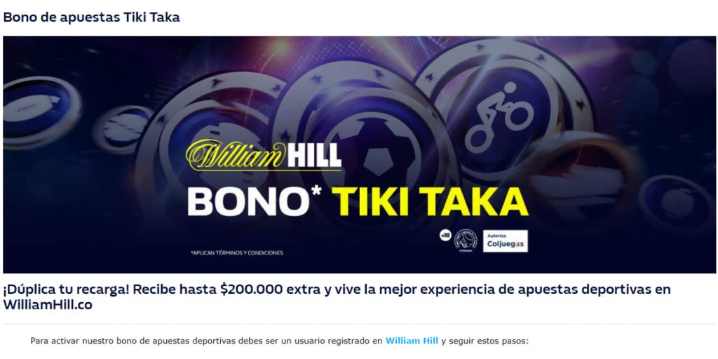 william hill mejores bonos