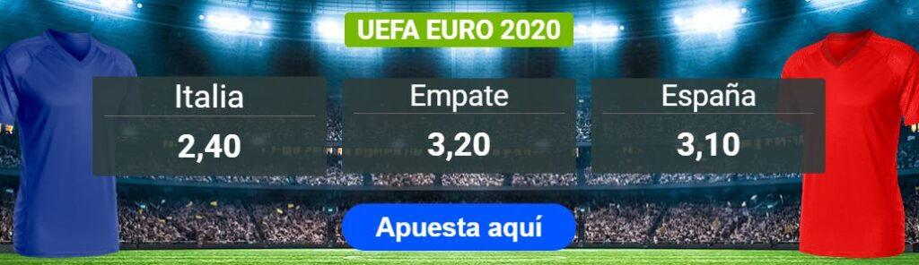 mejores apuestas españa italia eurocopa