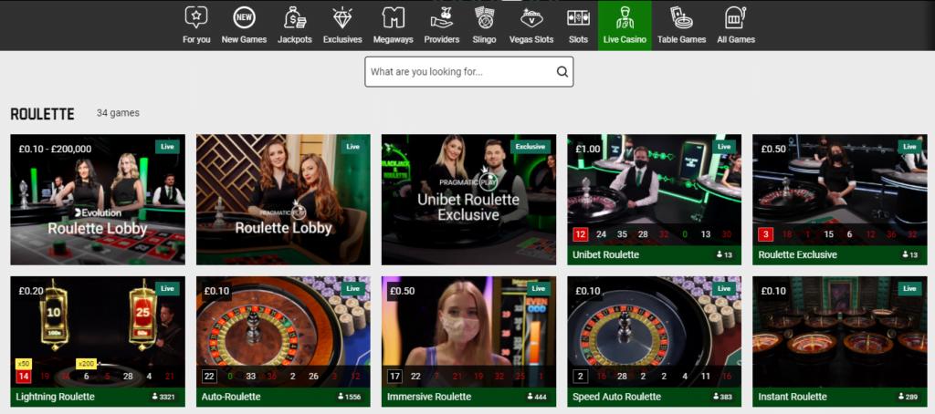 offer unibet roulette