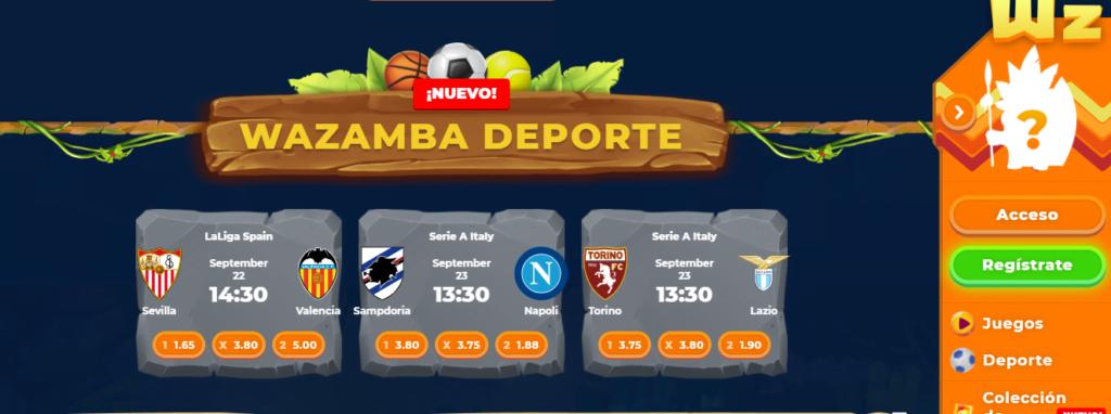 wazamba nuevo bono casino