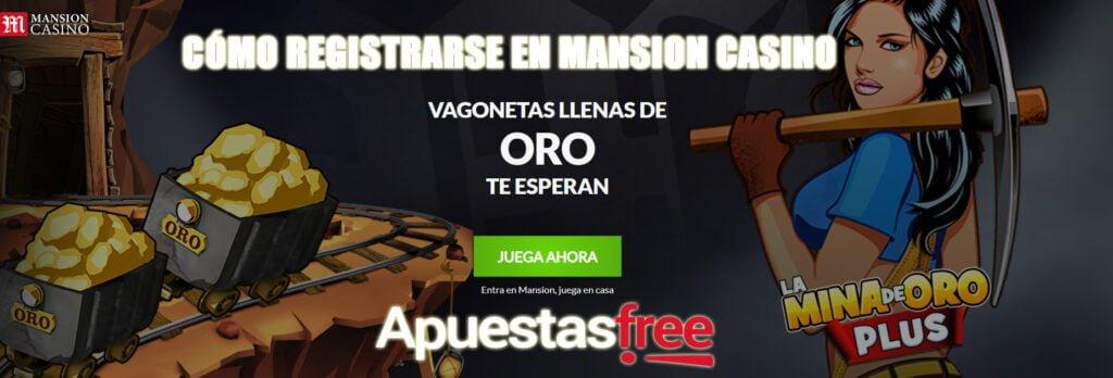 REGISTRARSE EN MANSION CASINO