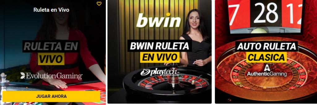 ruleta en vivo de bwin